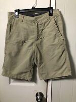 "OUTDOOR LIFE Men's Tan Khaki Cargo Shorts Size 30  10"" Inseam Lots Of Pockets"