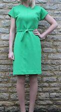 Diane Von Furstenberg Bright Green Textured Mini Shift Dress 10 S