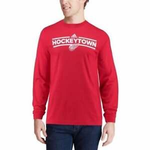 NWT Detroit Red Wings Adidas Long Sleeve Shirt Adult M/medium NHL Hockeytown