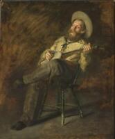 """high quality oil painting handpainted on canvas """"cowboy singing """""""