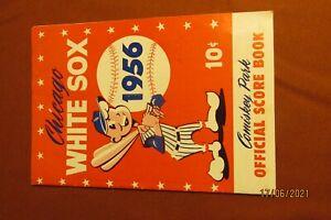 1956 Cleveland Indians/Chicago White Sox Comiskey Park Program Score Card STUB