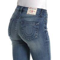 True Religion Women's Jennie Curvy Skinny Fit Stretch Jeans in Synthesize Me