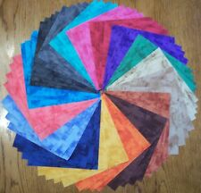 "68 Marbled Rainbow Tonal Fabric 5"" Quilt Squares Bundle Cotton Charm pack"