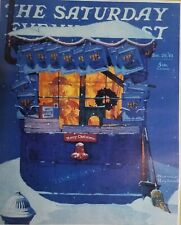 """Norman Rockwell Vintage Poster Print 17"""" x 22"""" 1941 newsstand in the snow H"""