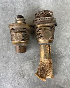 Lot of 2- Aladdin Oil Lamp Model B Brass Burners