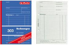 SD Rechnung Rechnungen Block 2x40 Blatt 10x Herlitz 305 Rechnungsblock A5