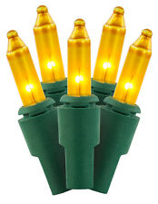 100 Count Gold Color UL Indoor/Outdoor Light Set For Holiday & Christmas Trees