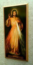 Barmherziger Jesus Wandbild auf Holz Christus Auferstehung