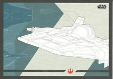 Star Wars Journey To The Last Jedi Blueprints Chase Card #3 A-Wing