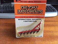 ERTL #1757 1/64 Scale International Harvester 6 Bottom Plow - Blister Pack