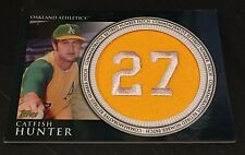 CATFISH HUNTER 2012 Topps Ser 2 Retired Number Commemorative PATCH Oakland A's