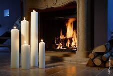 Kerze 25/6 250x60mm Farbe Weiß Kaminkerze Altarkerze Osterkerze/ RAL Qualität