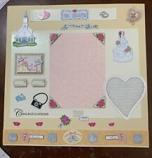 Our Wedding-12 x 12 premade scrapbook page
