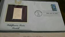 HAREBELL 1992 WILDFLOWER SERIES  22kt Gold Replica First Day Cover STAMP