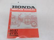 % 1990-91 Honda Trx200 Atv Service Manual 61Hf107 Vintage Motorcycle Atv Trx 200