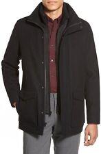 NEW Vince Camuto Men BLACK - XL- Removable Bib-Wool Blend-Stadium Coat $348