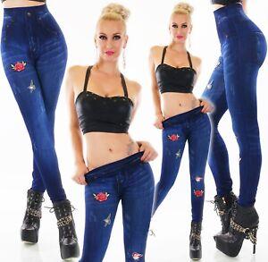 Women's flower Legging birds design Elastic waistband Casual Leggings UK