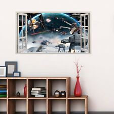 star wars theme wall sticker decal 3D effect window view home lounge decor mural