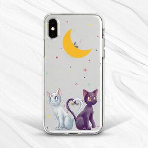 Sailor Moon Luna Artemis Cat Art Case For iPhone 6S 7 8 Xs XR 11 Pro Plus Max