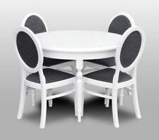 runder Tisch 108 cm (ausziehbar) + 4 Stühle gepolstert gut