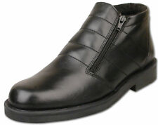 Mens Roamers Leather Fur Lined Zip Ankle BOOTS Shoes Size 6 - 12 Black UK 9