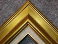 "3.75"" Antique Gold Leaf Ornate photo Oil Painting Wood Picture Frame 18G"