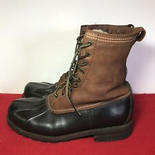 Frye Men's US Sz11D Waterproof Shearling Duck Winter Boots Black/Brown Rare