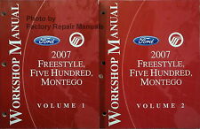 2007 Freestyle Five Hundred Montego Factory Service Manual Original Shop Repair