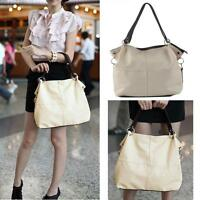 Fashion Women Leather Tote Shoulder Hobo Handbag Satchel Messenger Bag White UP