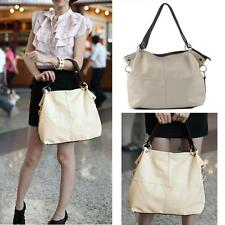 Fashion Women Leather Tote Shoulder Hobo Handbag Satchel Messenger Bag White MT