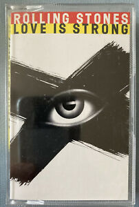 THE ROLLING STONES LOVE IS STRONG cassette tape single