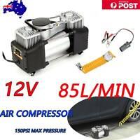 85L/MIN Car Air Compressor 12V 150PSI Tyre Inflator Pump 4x4 Portable