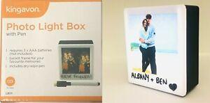 "Kingavon CINEMA PHOTO FRAME LIGHT BOX with Dry Wipe Pen 5"" X 5"" BRAND NEW"