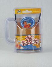TV Clear Plastic Kitchen Slanted 16 Oz 1 Pint Cold Beverage TV Beer Drinking Mug