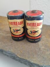 "Vintage Pair of Eveready # D99 size ""D"" Cell Battery Nine Lives!"