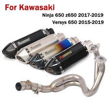 For Kawasaki Ninja 650 Z650 Versys 650 Full Exhaust System Front Pipe + Muffler