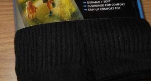 BURLINGTON Comfort Men Athletic Socks 5 Pack Crew Thick 80% Cotton BLACK