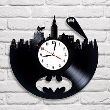Batman design vinyl record wall clock home art kids bedroom move game [ C ]