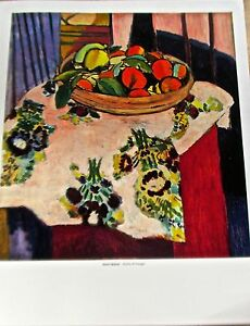 Henri Matisse Basket of Oranges  14X11 Unsigned Offset Lithograph