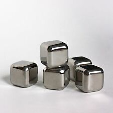 Stainless steel whiskey stones 8 pcs|Reusable ice cubes with tongs. Fda approved