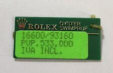 ROLEX Green Tag Oyster Swimpruf Sea Dweller 16600 P245333 2000 SEADWELLER OEM