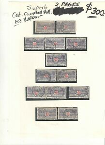 New Zealand 1903-39 Specialized Express Delivery Stamp Collection High CV Used