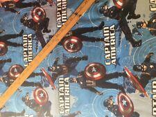 Marvel Tela De Algodón FQ Quilting Capitán América estrella CP59906