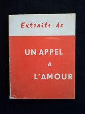 Extraits de Un Appel à l'Amour, (Sœur Josefa Menéndez), 1972