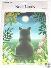 8 Leanin Tree Cards CAT Sitting on a Tropical Beach Ocean Water Elizabeth Brownd