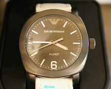 ARMANI AR 5810 orologio nuovo uomo acciaio nero cinturino pelle mm 43,00 -50%