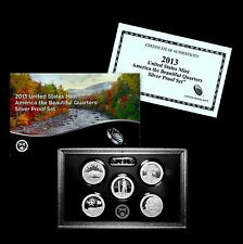 2013 S America the Beautiful National Parks Silver Proof Set in U.S. Mint Box