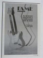retro magazine advert 1986 HONDO FAME guitar