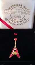 Hard Rock Cafe Phoenix 2002 Grand Opening Party Pin Go Guitar in Box Hrc #11895