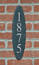 VERTICAL ADDRESS STONE MARKER/House Numbers/Sign/Slate Placard/Home #MA-7SB